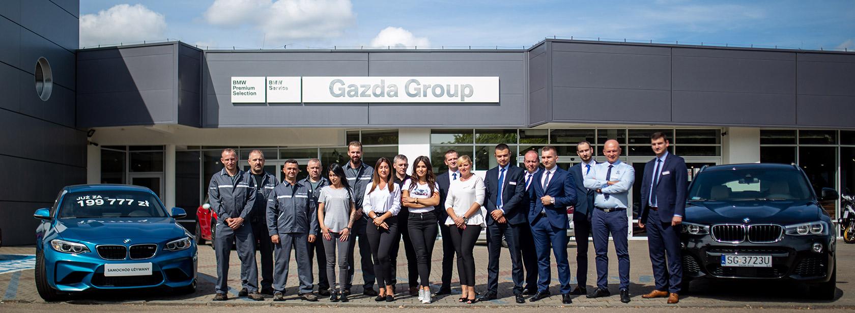 Pracownicy w zespole DEalera BMW Gazda Group Dąbrowa.
