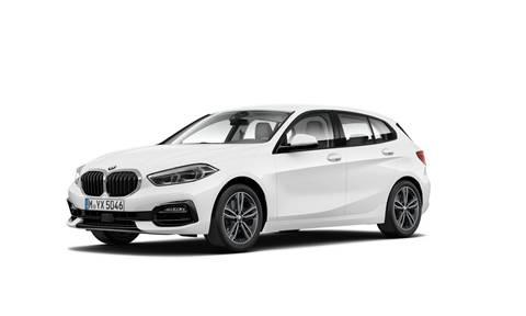 BMW Seria 1 5-drzwiowe 118 d Sport Line Biały